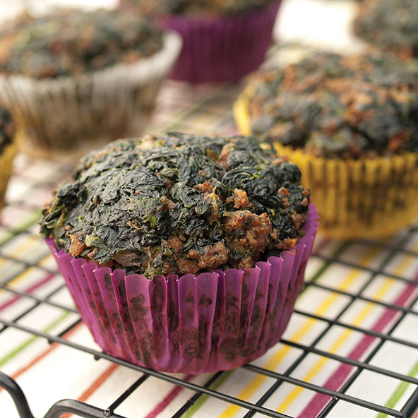 Meat and Spinach Muffins | meljoulwan.com