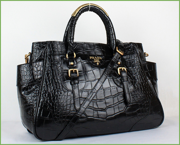 Prada-black-crocodile-bag