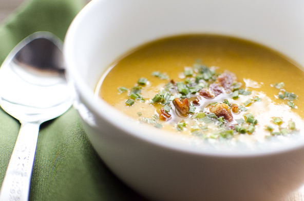 Sweet Potato Soup with Bacon | meljoulwan.com