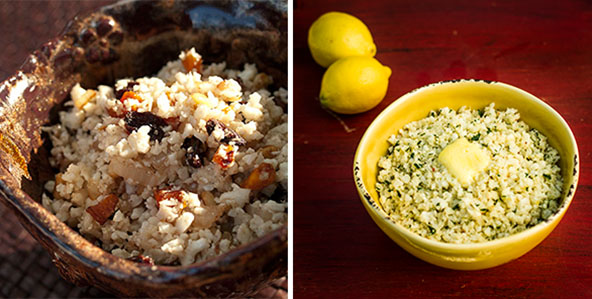 how to cook cauliflower rice without oil