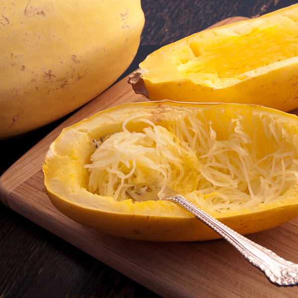 Cut spaghetti squash into rings for perfect pasta like strands for What to make with spaghetti squash