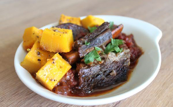 Mark's Daily Apple Savory Roasted Pumpkin with Beef Short Ribs