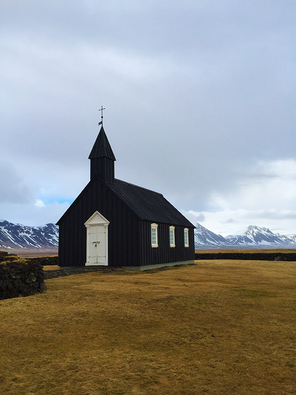 The Black Church in Budir, Iceland | meljoulwan.com