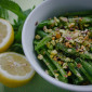 Snap Peas with Lemon, Mint, and Pistachios